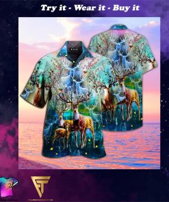 amazing deer full printing hawaiian shirt