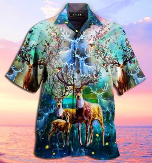 amazing deer full printing hawaiian shirt 3