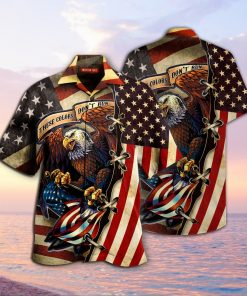 american eagle fly flag full printing hawaiian shirt 1 - Copy
