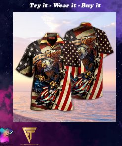 american eagle fly flag full printing hawaiian shirt