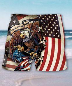 american eagle fly flag hawaiian shorts 3