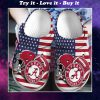 american flag alabama crimson tide football team crocs