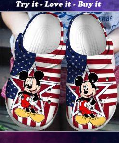 american flag mickey mouse crocs - Copy