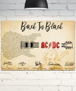 back in black guitar lyrics acdc rockband poster 1