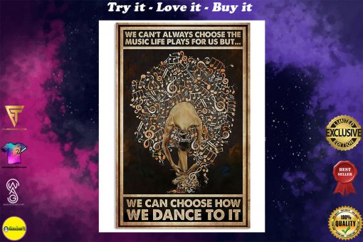 ballet we cant always choose the music life plays for us retro poster