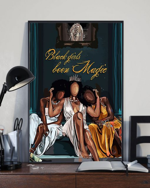 black girl been magic wall art poster 3