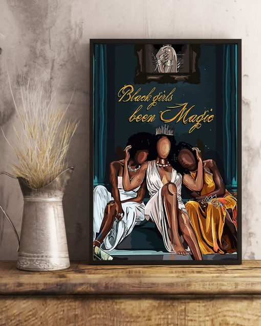 black girl been magic wall art poster 4