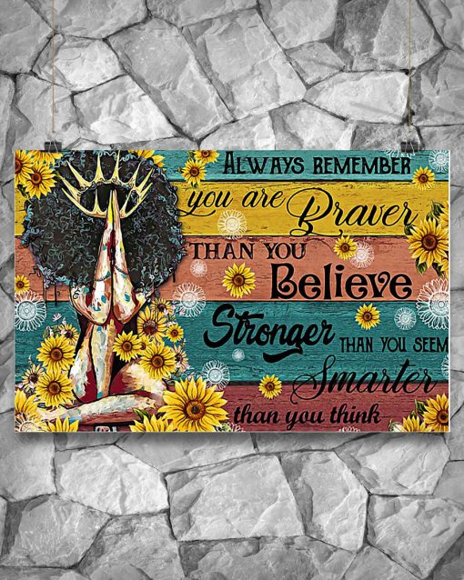 black queen always remember you are braver than you believe poster 2