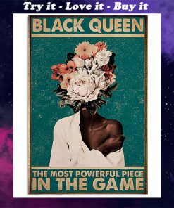 black queen the most powerful piece in the game retro poster