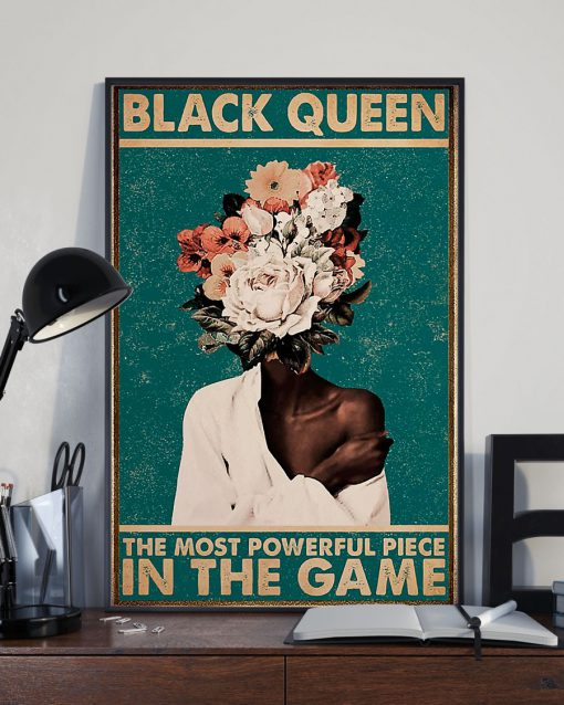 black queen the most powerful piece in the game retro poster 3