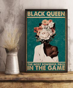 black queen the most powerful piece in the game retro poster 4