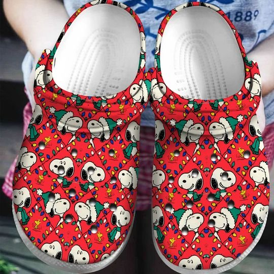 christmas snoopy crocs 1 - Copy (2)