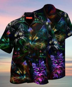 colorful cat full printing hawaiian shirt 1