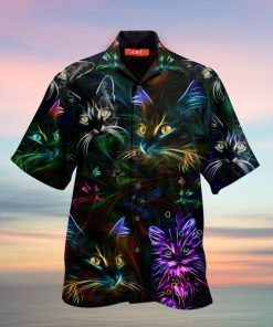 colorful cat full printing hawaiian shirt 3