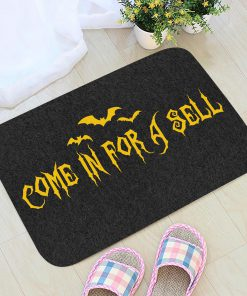 come for a spell halloween doormat 1