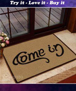 come in go away doormat