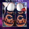 custom name chicago bears football team crocs