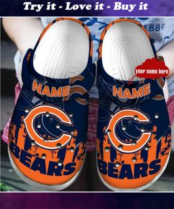 custom name chicago bears football team crocs