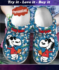 custom name snoopy crocs