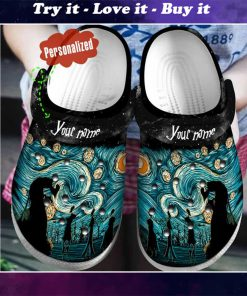 custom name starry night vincent van gogh crocs