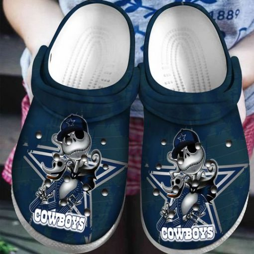 dallas cowboys jack skellington crocs 1 - Copy (2)