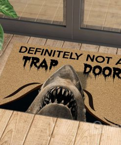 definitely not a trap door shark cat doormat 1 - Copy