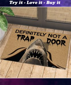 definitely not a trap door shark cat doormat