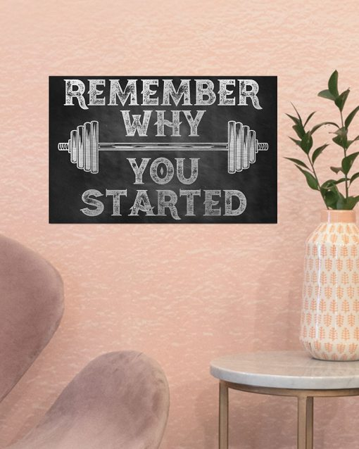 fitness remember why you started poster 2