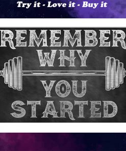 fitness remember why you started poster