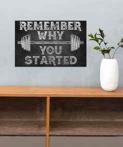 fitness remember why you started poster 3