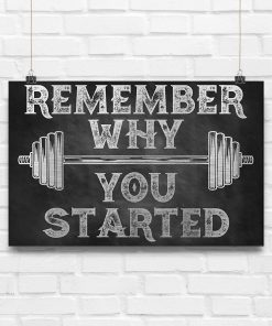 fitness remember why you started poster 4