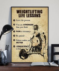 fitness weightlifting life lessons love the process poster 3