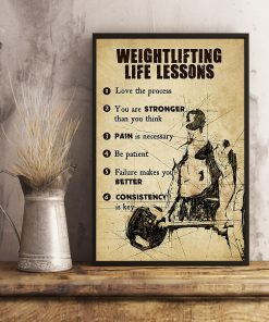 fitness weightlifting life lessons love the process poster 4