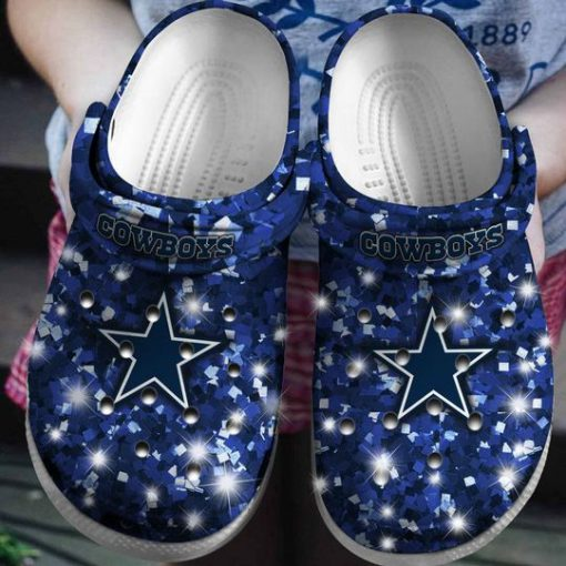 glitter dallas cowboys football team crocs 1