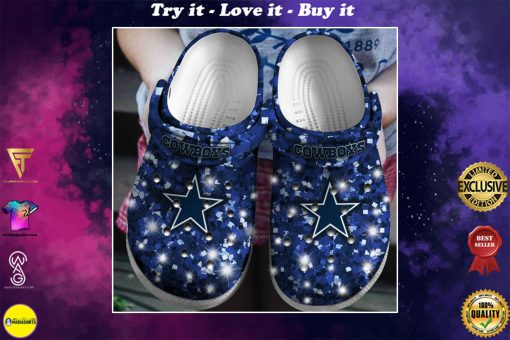 glitter dallas cowboys football team crocs
