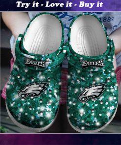 glitter philadelphia eagles football team crocs - Copy