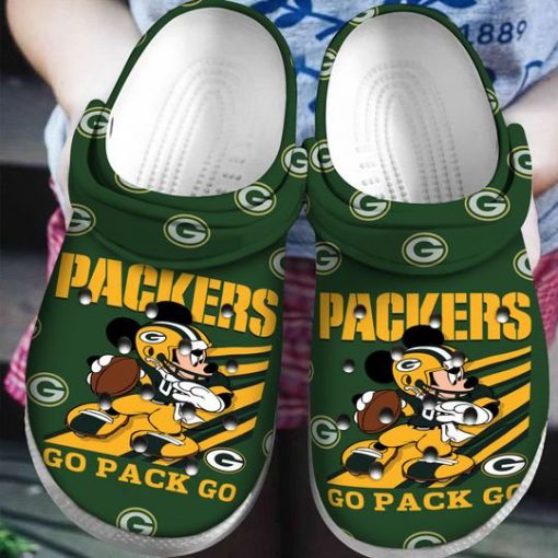 green bay packers and mickey mouse crocs 1 - Copy
