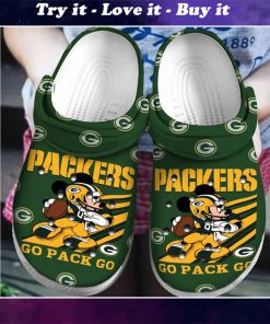 green bay packers and mickey mouse crocs - Copy