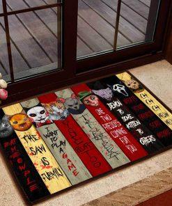 halloween cats cosplay horror killers doormat 1 - Copy