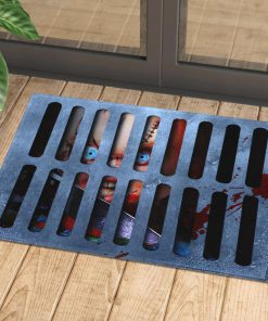 halloween childs play chucky in drain doormat 1