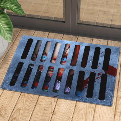 halloween childs play chucky in drain doormat 1 - Copy (2)