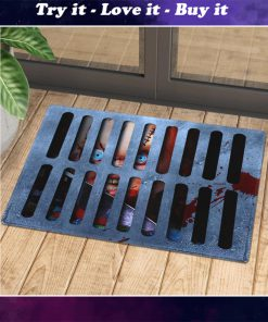 halloween childs play chucky in drain doormat