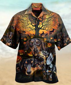 halloween dachshund full printing hawaiian shirt 3