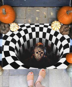 halloween friday the 13th jason voorhees illusion doormat 1
