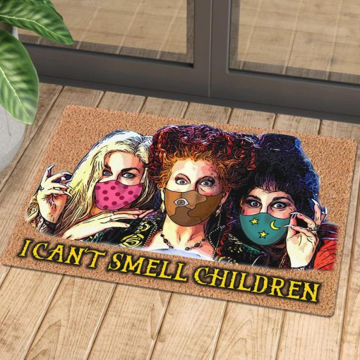 halloween hocus pocus with mask i cant smell children doormat 1