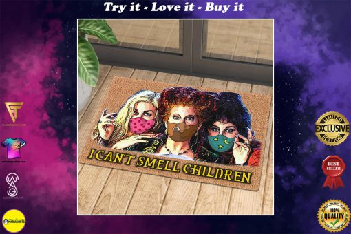 halloween hocus pocus with mask i cant smell children doormat