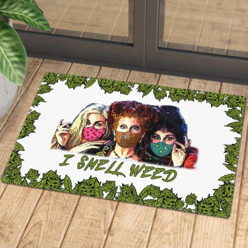 halloween hocus pocus with mask i smell weed doormat 1 - Copy