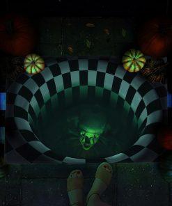 halloween it movie pennywise illusion doormat 1 - Copy (2)