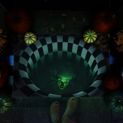 halloween it movie pennywise illusion doormat 1 - Copy