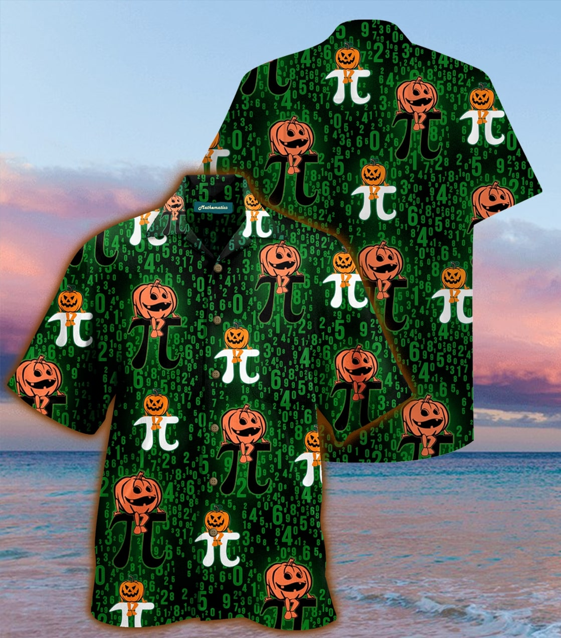 halloween pumpkin pi full printing hawaiian shirt 1 - Copy